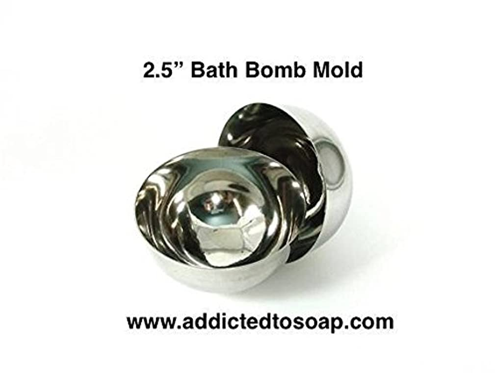 Addicted to Soap - 4 Inch Bath Bomb Stainless Steel Mold - Heavy Duty 1 1.5 2 2.5 2.75 3 3.5 4 inch Professional Set Bath Bomb Molds - Food Mold Safe to (2.5 inch Bath Bomb Mold)