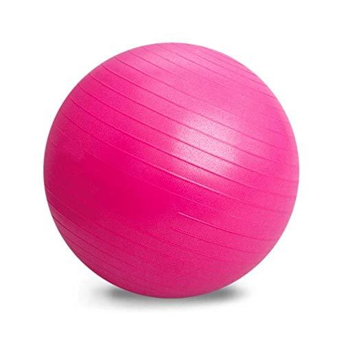 HXF Yoga-Kugel, Fitness, entflammbar, dick, für Schwangere, Gleichgewicht, Langlebig, PVC, Pink, 75cm