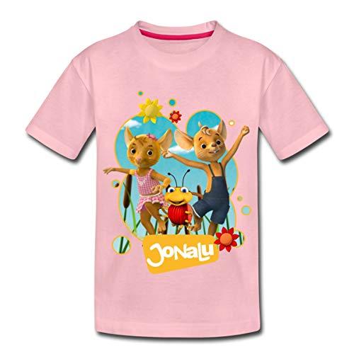 JoNaLu Jo Naya Und Lu Tanzen Auf Der Wiese Kinder Premium T-Shirt, 98-104, Hellrosa