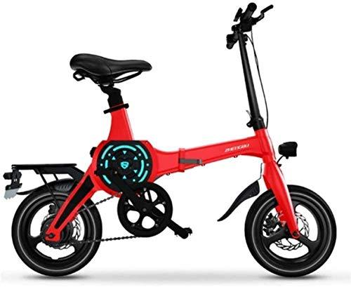 JNWEIYU Elektrofahrrad klappbares für Erwachsene 14-Zoll-bewegliche elektrische Mountainbike for Erwachsene mit 36V Lithium-Ionen-Akku E-Bike 400W Leistungsstarke Motor Geeignet for Erwachsene