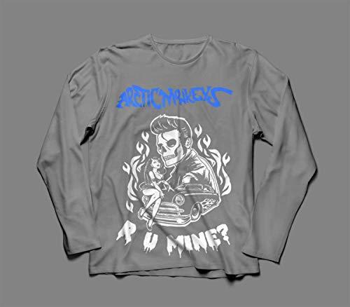 Camiseta/Camisa Manga Longa Masculina Arctic Monkeys Tamanho:P;Cor:Cinza