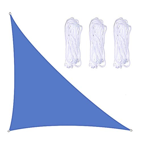 SH Toldo de vela de 4 x 4 x 5,7 m, con forma de triángulo grande, para patio, jardín, instalaciones al aire libre