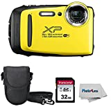 Fujifilm XP140 Yellow Digital Camera + 32GB SD Card + Case + Cloth (Renewed)
