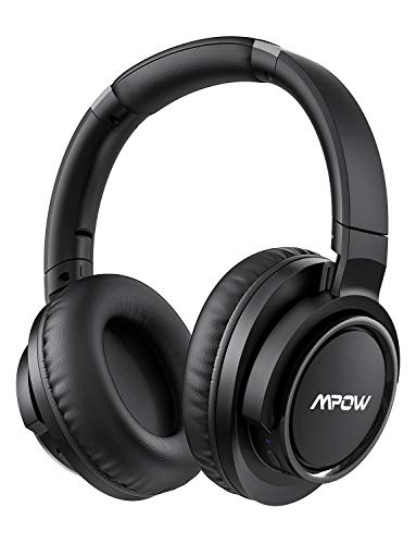 Mpow H18 Active Noise Cancelling Headphones, 50 Hours Playtime Bluetooth Headphones with Hi-Fi Deep Bass, Over Ear Headphones with CVC 6.0 Mic, Wireless Headphones for Travel Work TV Cell Phone/PC