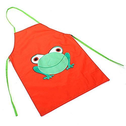 Wasserdichte Küchenschürze von TankerStreet, aus PVC, zum Kochen, Backen und Malen; für Jungen, Mädchen, Kinder und Kleinkinder im Alter von 2-7Jahren geeignet Orange