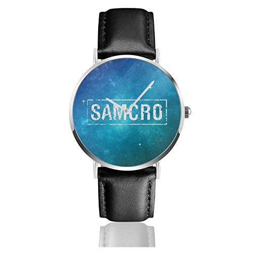 Sons of Anarchy Samcro Reloj de Cuero de Moda Unisex