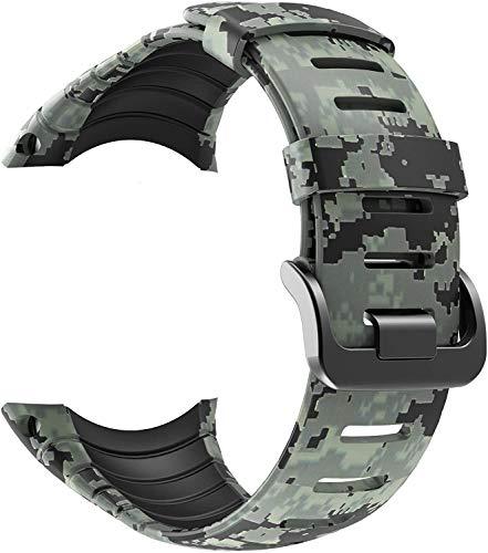 Tyogeephy Correa de Reloj Compatible con Suunto Core Strap, Silicona Banda de Reemplazo Pulsera para Suunto Core SS014993000