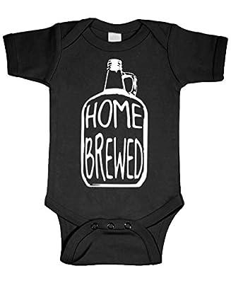 Live Nice Home Brewed - Wine Beer Brew Craft - Cotton Infant Bodysuit