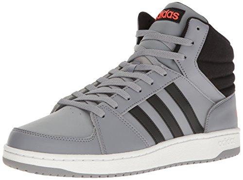 adidas NEO Men's Vs Hoops Mid Basketball Shoe, Grey/black/Infrared, 12 M US