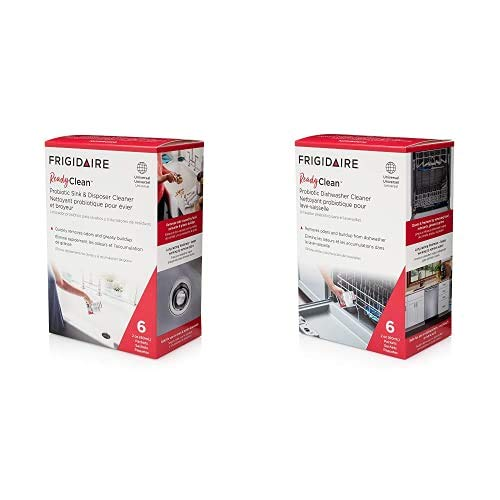 Frigidaire Ready Clean Probiotic Sink & Disposer Cleaner + Ready Clean Probiotic Dishwasher Cleaner