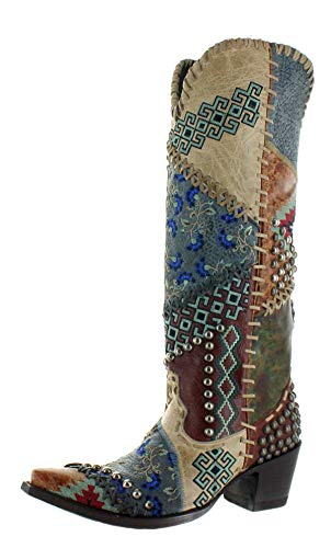 Old Gringo Double D Ranch Women's Blow Out Western Boot Snip Toe Multi 9 M -  DDL050-1