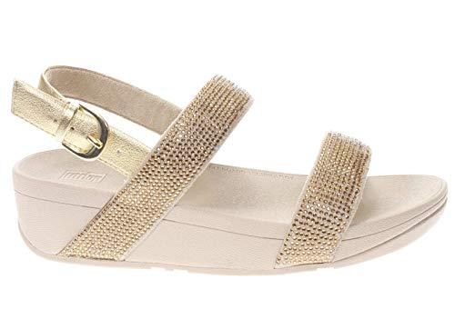 Fitflop Lottie SHIMMERCRYSTAL Back-Strap - Artisan Gold (Size: 37) Artisan Gold 37