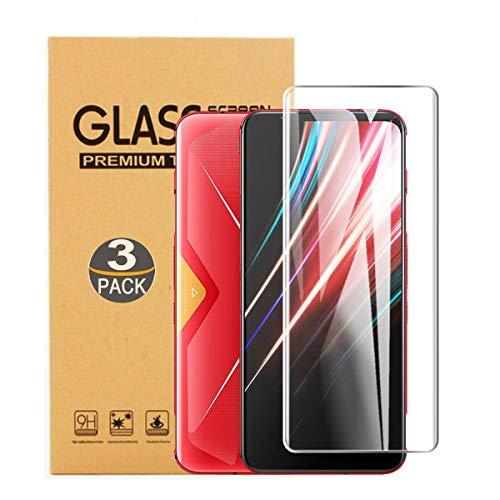 SCDMY Panzerglas Displayfolie für ZTE Nubia Red Magic 5G, Reiner Glasschutzfilm, Keine Luftblasen, Kratzfest, Anti-Fingerprint [ 6.65 Zoll, 9H-Härte, 0,3 MM Dicke, 3 Pack ]