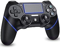PS4 コントローラー 無線 遅延なし 【NEWモデル】 600mAh大容量 二重振動 重力感応 ジャイロセンサー機能 ゲームパット ヘッドフォンジャック 搭載 プレステ4 コントローラー PS3/PC対応 日本語取扱説明書付き