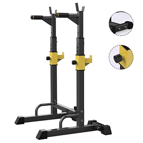Barres de traction Support de squat Bench Press Étagère multifonctionnelle Support réglable Salle de gym intérieure à domicile Support de musculation Support d'haltères de fitness pour hommes Vendez