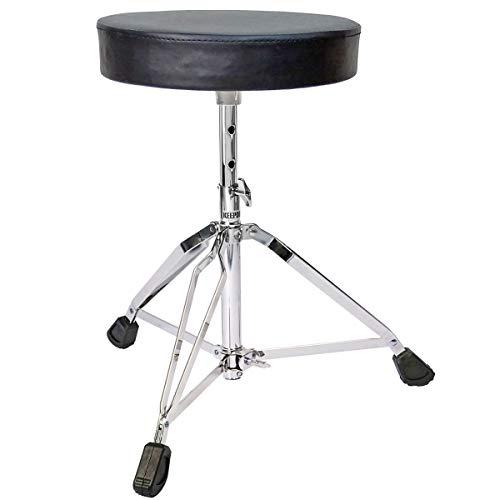 keepdrum KD-SH200 Drumhocker höhenverstellbar Drum Throne Rundsitz Schlagzeug Hocker