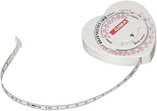 Metro a nastro con regolo calcolatore IMC (Indice di Massa Corporea) o BMI