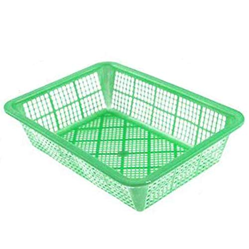 Monbedos Cesta rectangular de plástico para lavar la colada multifuncional, colador de ensalada, adecuada para almacenar y lavar frutas y verduras, talla XS
