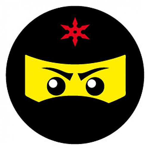 1art1 Gaming - Ninja Icon, Rot Poster-Sticker Tattoo Aufkleber 9 x 9 cm