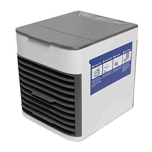 Wand-airconditioning, persoonlijke bewegende luchtkoeler en luchtbevochtiger, koeler desktop-ventilator, voor thuis en kantoor, met USB-aansluiting en inbouw-LED-licht, Urban Grey
