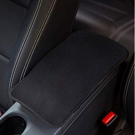 Amuseprofi Armlehnenbezug Armlenenabdeckung Armlehnenkissen Armrest Cover Universal Für Mittelarmlehne Im Auto Autozubehör Für Männer Schwarz Auto