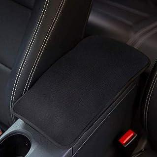 AMUSEPROFI Armlehnenbezug, Armlenenabdeckung, Armlehnenkissen, armrest cover, universal für Mittelarmlehne im Auto, Autozubehör für Männer, Schwarz