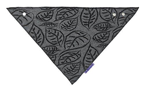 The Original Dooky Bavoir Bandana en coton, absorbant et réglable Nero Con Triangoli/Black Tribal