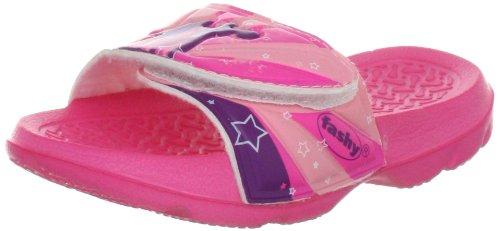 Fashy Mädchen Kleinkinder-Pantolette mit Klettverschluss Dusch- & Badeschuhe, Pink Pink 43, 24
