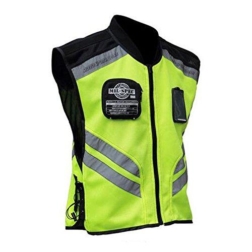 Ocamo Chaquetas y Chalecos de Alta Visibilidad Reflectante para Montar en Moto, Uniforme de Seguridad Vial, Chaqueta de Seguridad Fluorescente 2XL