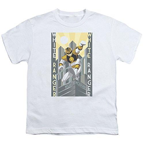 Power Rangers - - La juventud Ranger Blanco Deco Camiseta