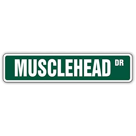 MUSCLEHEAD Street Sign Workout Gym Training Personal Trainer / 24 Wide Indoor//Outdoor