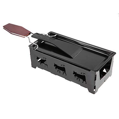 FTVOGUE Mini raclette Portatile Antiaderente Formaggio raclette rotaster Forno Vassoio con Manico in Legno Formaggio spatola Grigliata