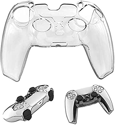 PS5 Controller Skin, Anti-Slip Silicone Cover for Playstation 5 Controller, Silicone Skin Protective Cover Case for PS5 DualSense Wireless Controller(Clear)