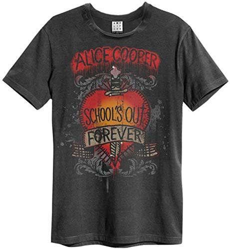 Amplified - Alice Cooper Schools Out Logo Vintage Herren T-Shirt (S-XL) (S)