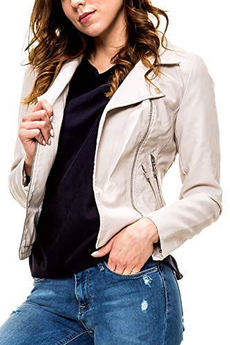 ONLY Damen Bikerjacke Kunstlederjacke (S, Moonbeam)