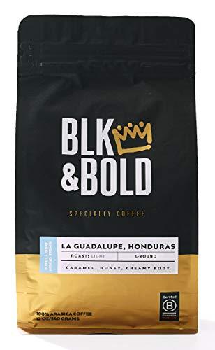Blk & Bold | La Guadalupe Honduras Single Origin | Fair Trade Certified | Light Roast | 12 oz. bag