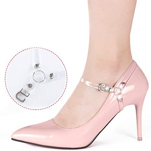 Delicate onzichtbare transparante schoenen met hoge hakken Luie bundel schoen gesp lederen schoenen niet volgen de hiel voorkomen dat de hiel band schoenveter gesp