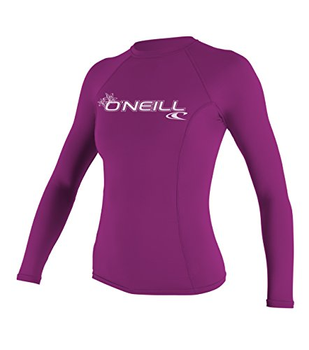 O'Neill - Traje de Neopreno para Mujer (Manga Larga), Camiseta básica de Manga Larga para Mujer, Mujer, Color Fox Rosa, tamaño Medium