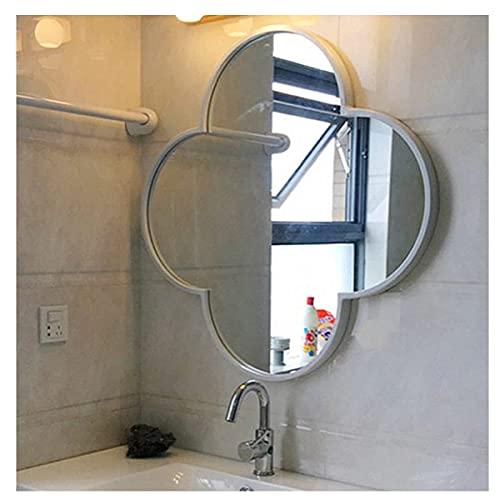 FHISD Espejo de pared montado en la pared del espejo del cuarto de baño de la decoración HD para el pasillo sanitario, sala de estar o dormitorio, espejo de pared del polígono