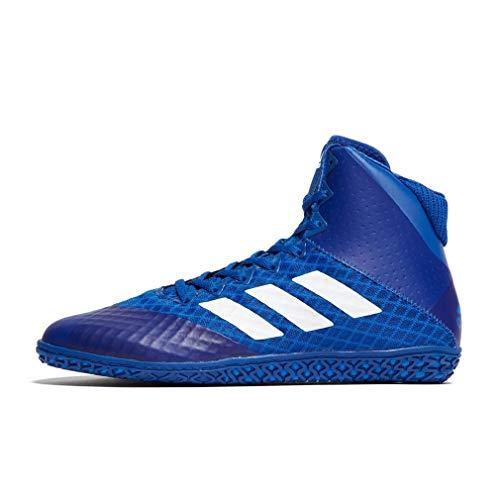 adidas Mat Wizard 4 Herren Wrestling Boots, Blau, 43 1/3