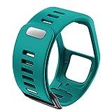 PZZZHF Silicona Reemplazo de Pulsera Reloj Correa para Tomtom Runner 2 3 Spark 3 GPS Reloj Deportivo para Tomtom 2 3 Series Soft Smart Band (Band Color : Gree-Blue)