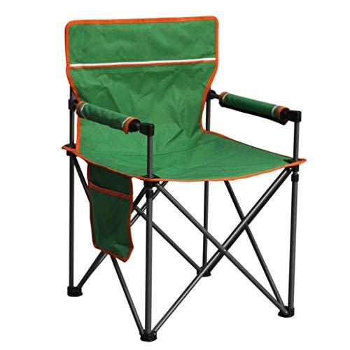 JYQ-SZRQ Silla de Camping Plegable Portátiles sillas de Director Plegable con Bolsillo Lateral for Fiestas acampan jardín Marco de Acero Resistente Soporte 150KG