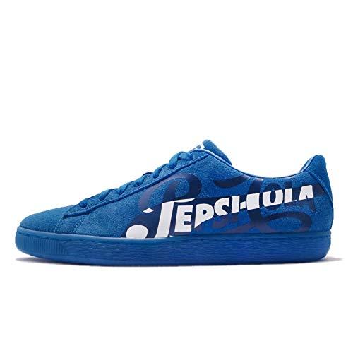 Puma Suede Classic, Unisex-Erwachsene Sneaker, Blau - Pepsi Clean Blue Puma Silver - Größe: 43 EU