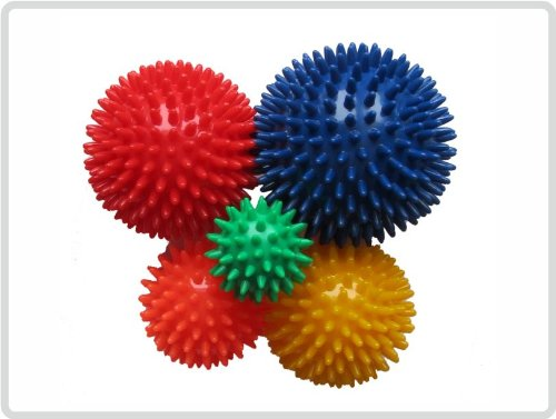 10 x Igelball Igel-Ball Noppenball Massageball, ø 6 cm Farbe: Orange *Top-Qualität*