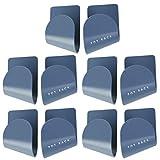 YARNOW 5 Paar Selbstklebender Topfdeckelhalter Topfdeckel Halter Pfannendeckel Rack Wandmontierter Halterung Küchen Organizer ABS Nahtlose Aufkleber für Zuhause Küche Blau
