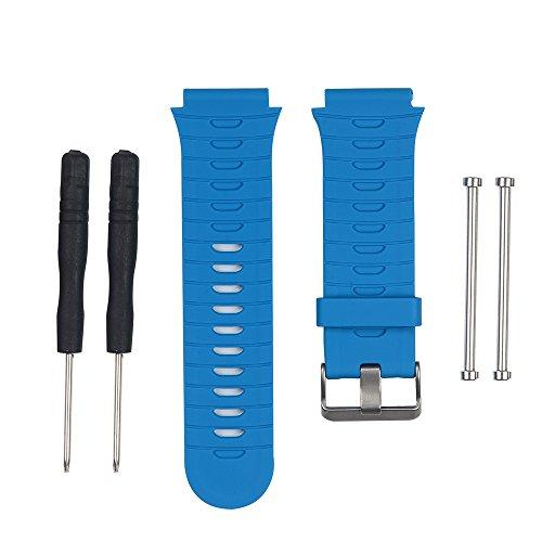 AUTRUN Band for Garmin Forerunner 920XT Watch, Silicone Wristband Replacement Watch Band for Garmin Forerunner 920XT (Blue)
