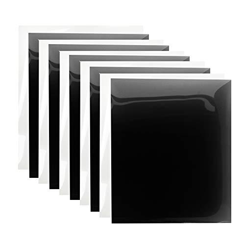 Heat Transfer Vinyl HTV Black and White Iron on Vinyl Bundle 12'x10' for Tshirt 10 Packs