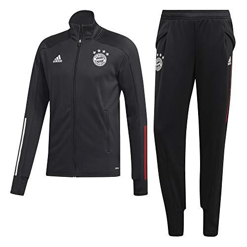adidas Herren TK Suit Tracksuit, Black/FCB True red, XL