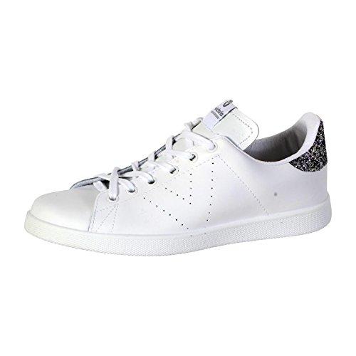 Victoria Deportivo Piel, Zapatillas Mujer, Blanc Blanco, 42 EU