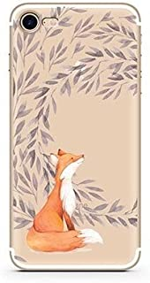 iPhone 8 Case/iPhone 7 Case(4.7inch),Blingy's Creative Design Funny Animal Matte Texture Flexible Soft Slim TPU Protective Rubber Case for iPhone 8/iPhone 7 (Fox Flowers)